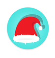 Santa claus cap on white background vector image vector image