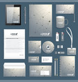 scientific set of corporate identity vector image vector image