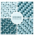 Seamless Blue Round Diagram Geometric vector image vector image