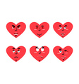 Set love emotion Cheerful and angry love Surprise vector image vector image