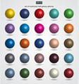 set multicolor ball glossy spheres vector image vector image