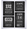 set of coffee cafe label vector image