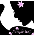 Silhouette female vector image
