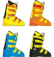 ski boots vector image vector image