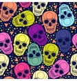 Skull with geometric polygonal ornament vector image