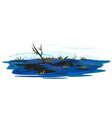 swamp isolated vector image