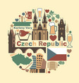 symbols of the czech republic vector image vector image