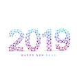 text design christmas and happy new year 2019 vector image vector image