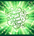 typographic design template for saint patricks day vector image vector image