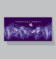 violet purple tropical pattern vector image