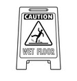 wet floor sign coloring book vector image
