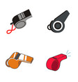 whistle logo design vector image