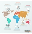 world map and infographics vector image vector image