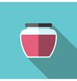 Jam jar flat style vector image