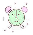 alarm clock retro icon vector image