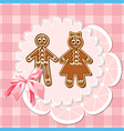 gingerbread mans vector image
