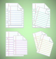 Note paper sheet with colorful lines vector image