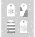 Silver textured festive gift tags vector image