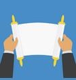 paper scroll in hands vector image