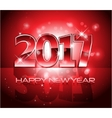 2017 Happy New Year background red letters vector image