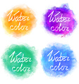Abstract colorful water color backgrounds vector image