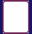 american symbols red blue frame vector image vector image