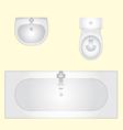 basin bathtub an toilet vector image vector image