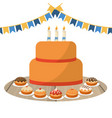birthday party with cakes vector image