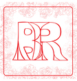 BR monogram vector image vector image