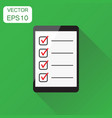 businessman checklist with tablet icon business vector image vector image