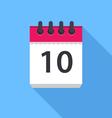 Calendar icon Flat Design vector image vector image