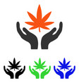 cannabis care flat icon vector image vector image