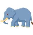 Cartoon elephant mascot isolated vector image vector image