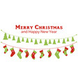 christmas stockings and christmas tree garlands vector image vector image