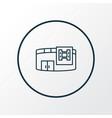 cinema icon line symbol premium quality isolated vector image vector image