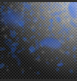 dark blue flower petals falling down vector image