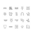 dentistry line icons signs set outline vector image vector image
