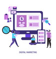 digital marketing and digital technologies vector image vector image