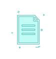 document icon design vector image