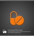 drugs icon simple vector image vector image
