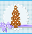 gingerbread tree vector image