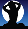 girl pretty on a moonlight color vector image vector image