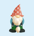 gnomes watercolor isolated on a white background vector image