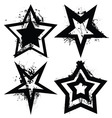 grunge star set vector image