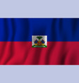 haiti realistic waving flag national country vector image