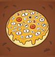 halloween donut eyes vector image vector image