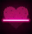 Heart shaped fingerprint scanner vector image