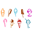 Ice cream snacks set vector | Price: 1 Credit (USD $1)