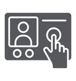 intercom telephone glyph icon communication and vector image vector image