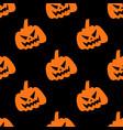 laughing halloween pumpkin seamless pattern vector image vector image